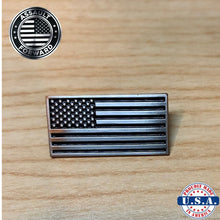 Load image into Gallery viewer, Subdued American Flag Lapel Pin, Cuff-Links, and Tie-Clip (Set Discount)