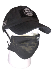 Black Multicam Ripstop Face Covering
