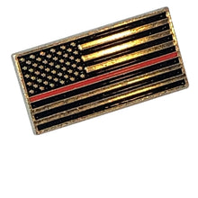 Load image into Gallery viewer, Thin Red Line Lapel Pin
