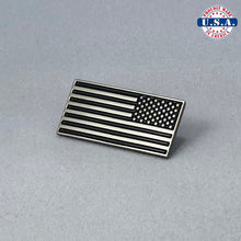 Load image into Gallery viewer, Reverse American Flag Lapel Pin, Cuff-Links, & Tie-Clip (Set Discount)