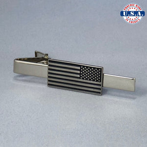 Reverse American Flag Lapel Pin, Cuff-Links, & Tie-Clip (Set Discount)