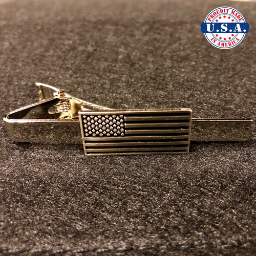Subdued Tactical American Flag Tie-Bar