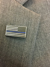 "Load image into Gallery viewer, ""Thin Blue Line"" Special Edition Pin"