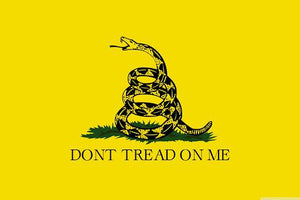 Don't Tread on Me Yellow Gadsden Flag