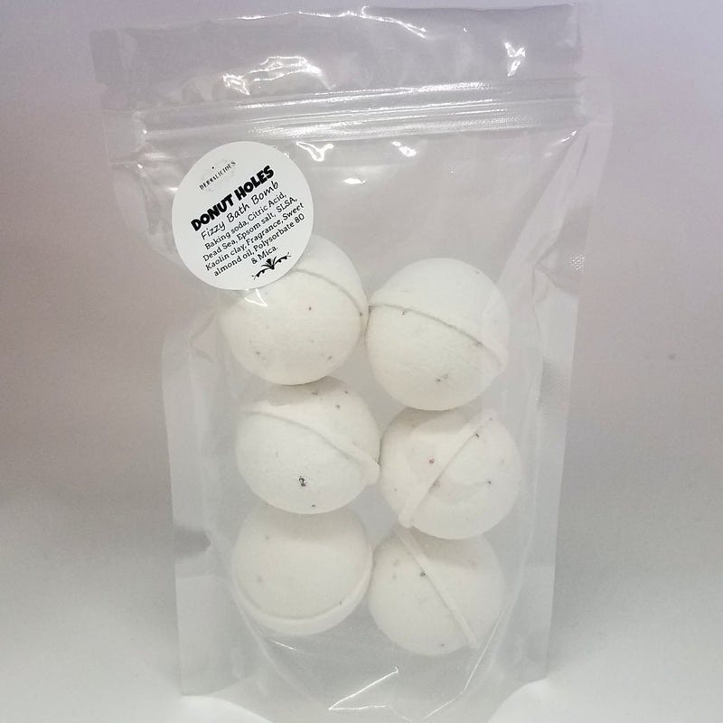 Bag of 6 Donut Hole Bath Bombs