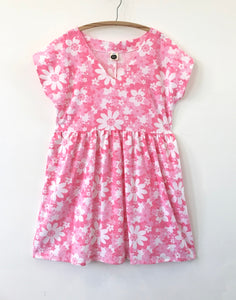 Lucy Dress Vintage Pink Daisies 14-16