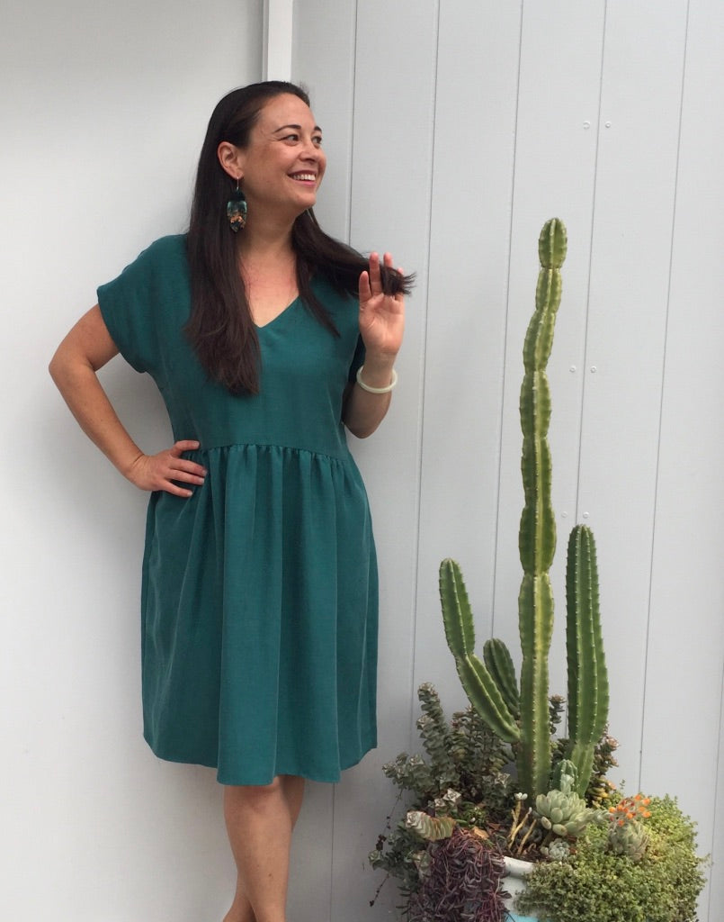 Lucy Dress Emerald ALL SIZES BACK IN STOCK!