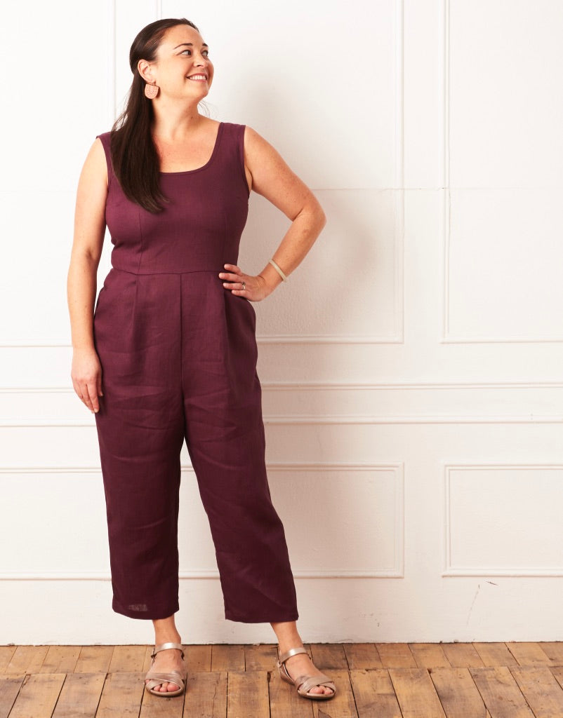 Nina Jumpsuit Mulberry 16-18 LAST ONE!