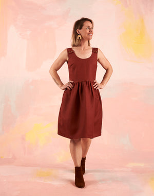 Splice Pinafore Rust Linen LOW STOCK!