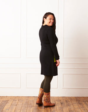 Winter Park Dress Black Strata 8-10