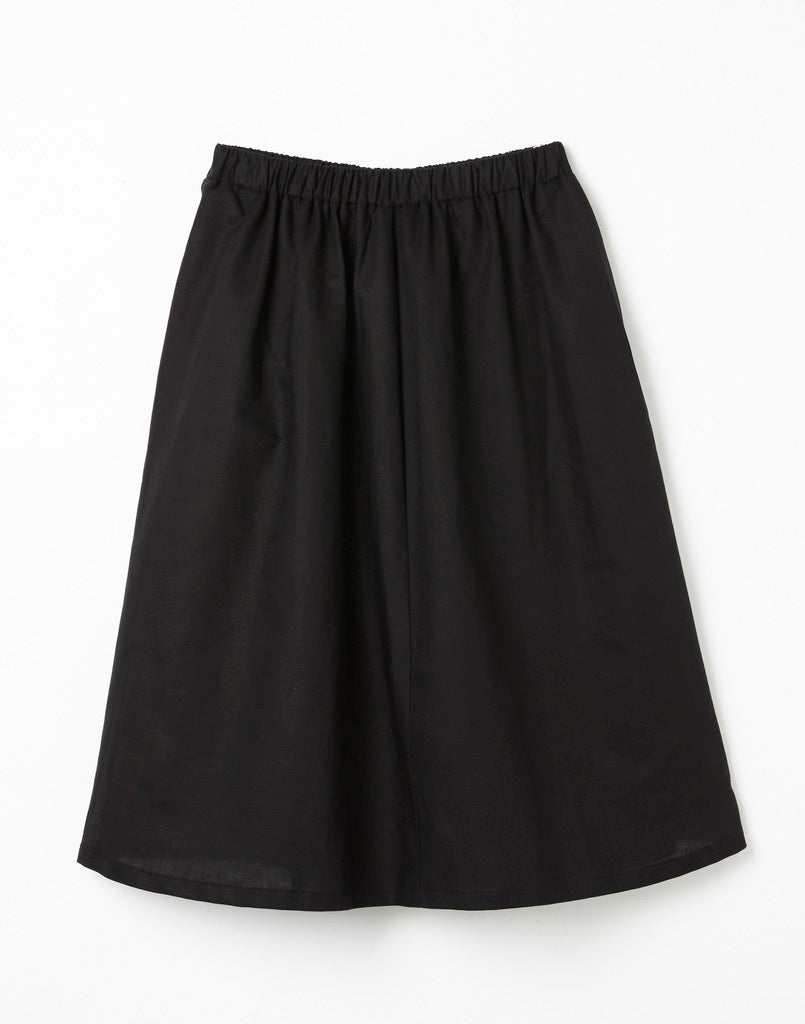Connie Skirt Black Linen S - LAST ONE!