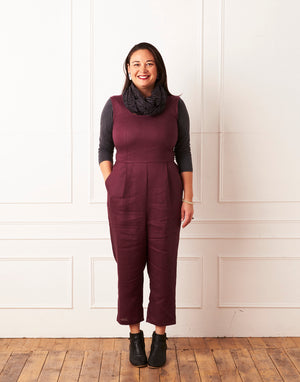 Nina Jumpsuit Mulberry Linen LOW STOCK!