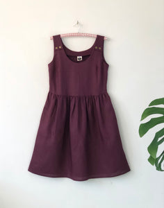 Splice Pinafore Mulberry Linen