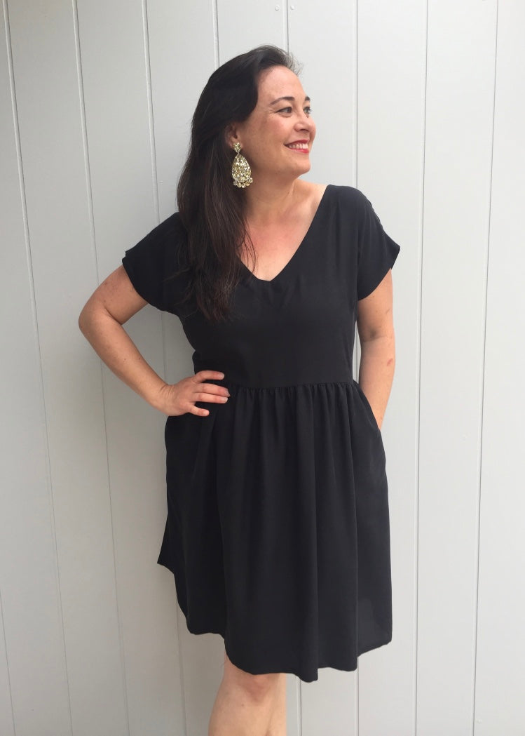 Lucy Dress Black LAST ONE - Size 16-18 only!