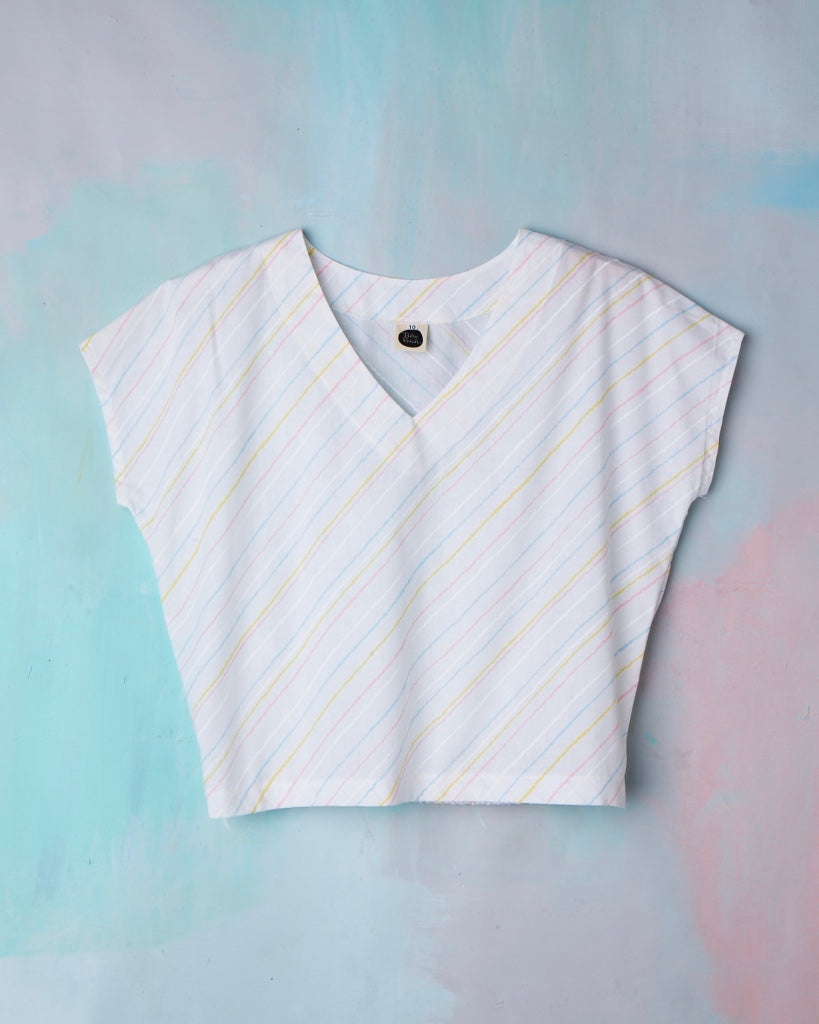 Kite Top Whizz Fizz Stripe Vintage Cotton