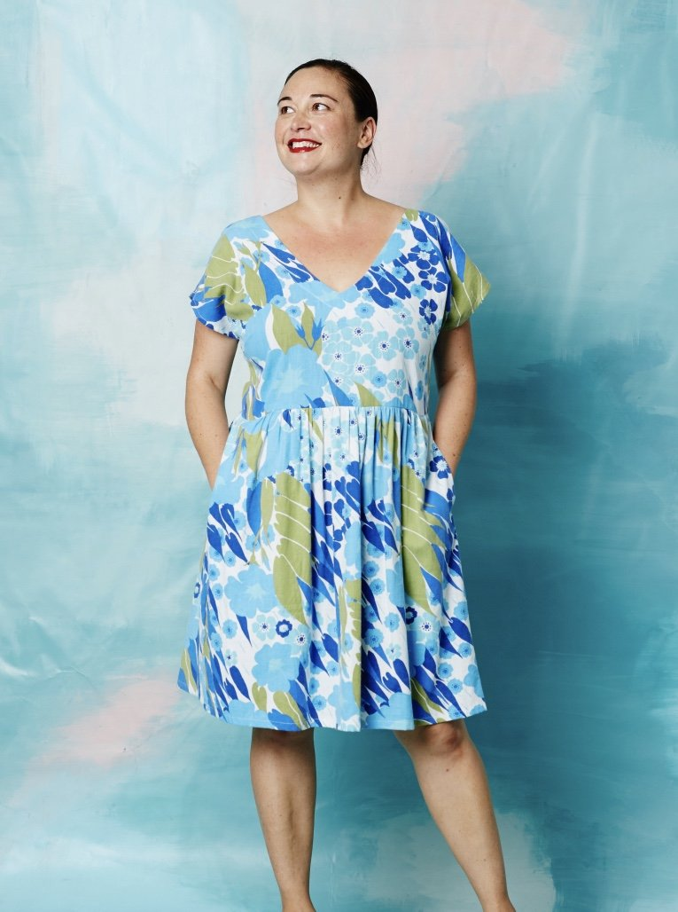Lucy Dress Vintage Teal & Purple 10-12 & 12-14
