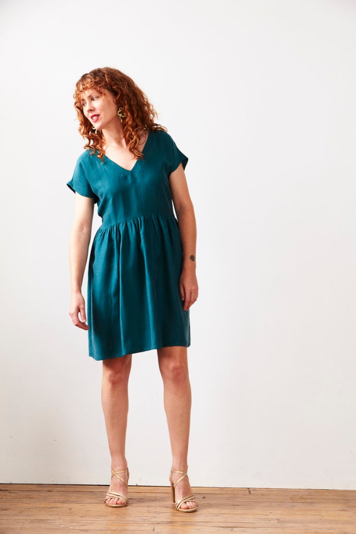 Lucy Dress Emerald