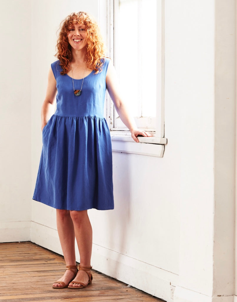 Splice Dress Cornflower Blue