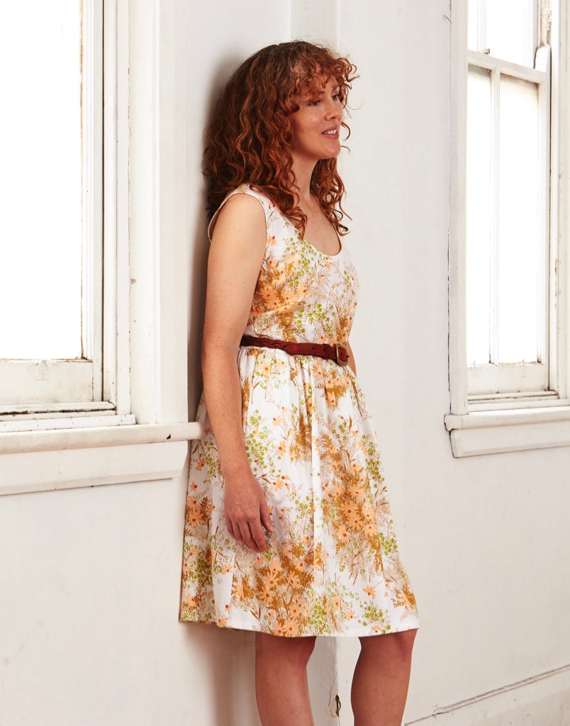 Splice Dress Vintage Heather Bouquet 12-14 & 16-18