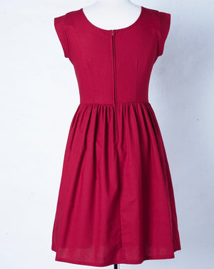 Liesl Dress Cherry 10-12 & 12-14