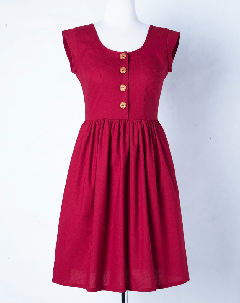 Liesl Dress Cherry LOW STOCK