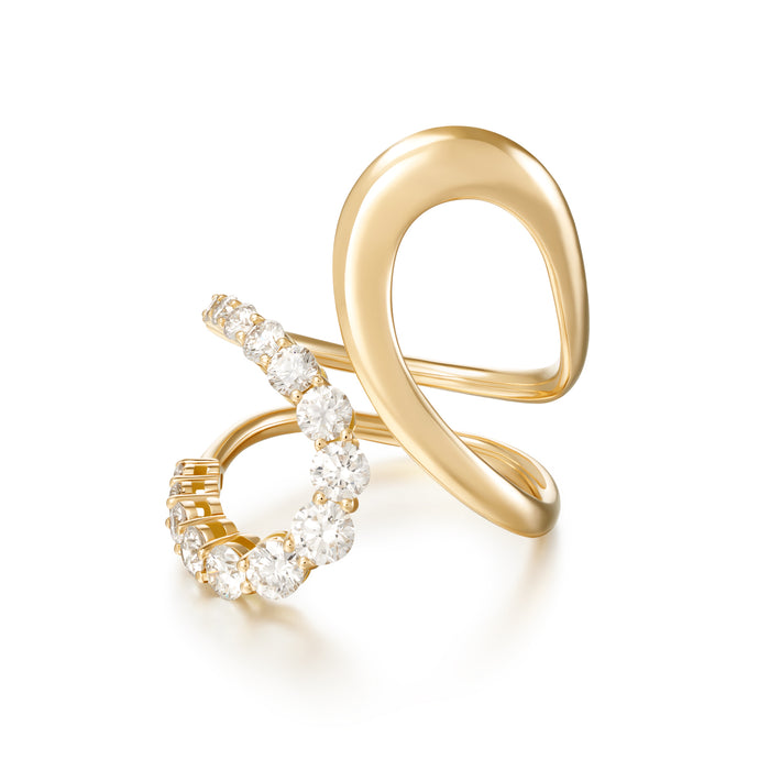 Aria Jane Ring with Diamonds
