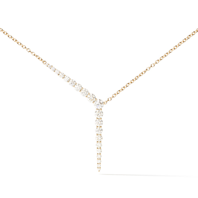 Aria Y Necklace in Yellow Gold