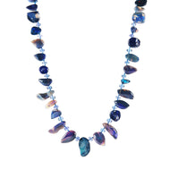 Boulder Opal and Tanzanite Necklace