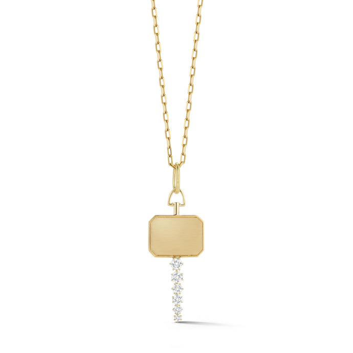 Catherine Key Charm in Yellow Gold
