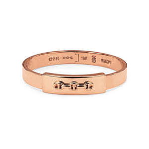Slot Cuff in Rose Gold