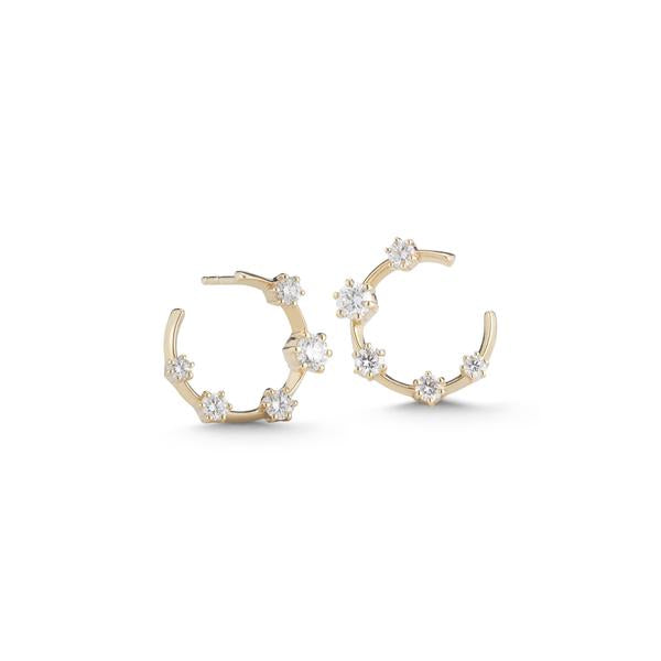 Kismet Hoops in Yellow Gold