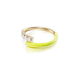 Lola Pinky Ring with Yellow Enamel