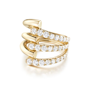 Lola Triple Ring with Diamonds