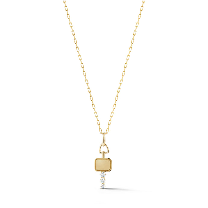 Mini Catherine Key Charm in Yellow Gold