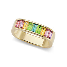 Small Baguette Square Stacking Band for Pointer Finger