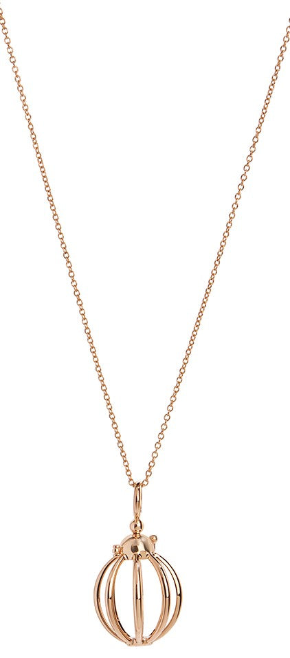 Mini Cage Necklace in Yellow Gold