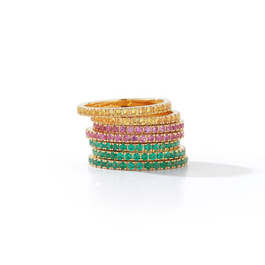 Yellow Saphire Eternity Band Rings