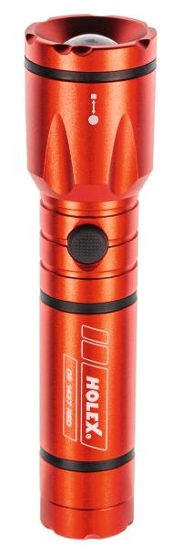 LED torch with batteries RED 081437 RED - MQTooling