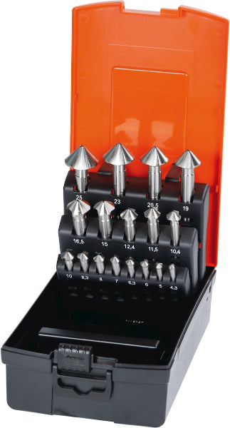 Countersink set No. 150175 in a case 90° 17 - MQTooling