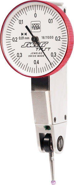 Swisstast lever dial indicator contact point length 12.5 mm with ruby ball 0,4/29 mm - MQTooling