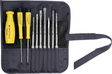 Screwdriver set with 2-component SwissGrip handle ESD 10 - MQTooling