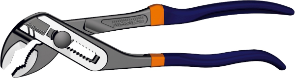 Water pump pliers with stepped fine adjustment, black 250 mm - MQTooling