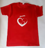 T-Shirt: RED, short sleeved, unisex t-shirt with Pro Life and Rally