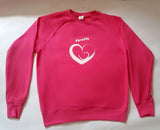 Jumper: PINK, long sleeved, unisex jumper with Pro Life and Rally Logo