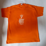 T-Shirt: Orange, short sleeved, unisex t-shirt: Radical Idea