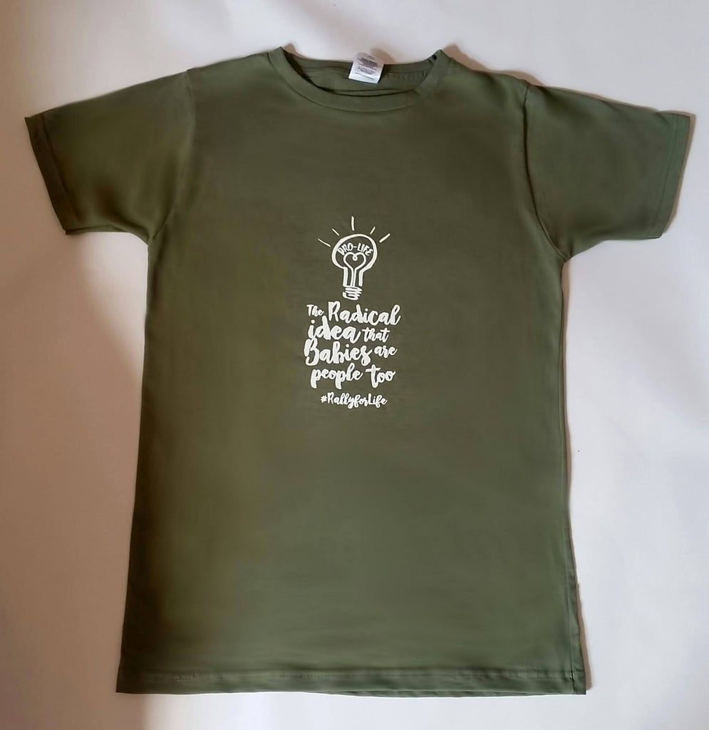 T-Shirt: OLIVE, short sleeved, unisex t-shirt: Radical Idea