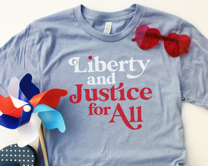 Liberty & Justice - Adult Tee (Charitable Donation)