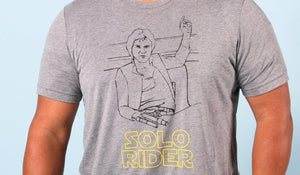 Solo Rider - Han Solo Parody Adult Tee
