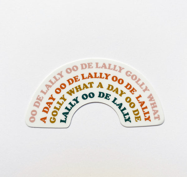 "Oo De Lally: 3"" x 1.5"" STICKER"