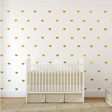 Metallic Gold Heart Wall Decal